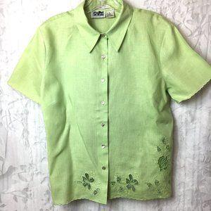Edward Irish Linen Button Front Shirt